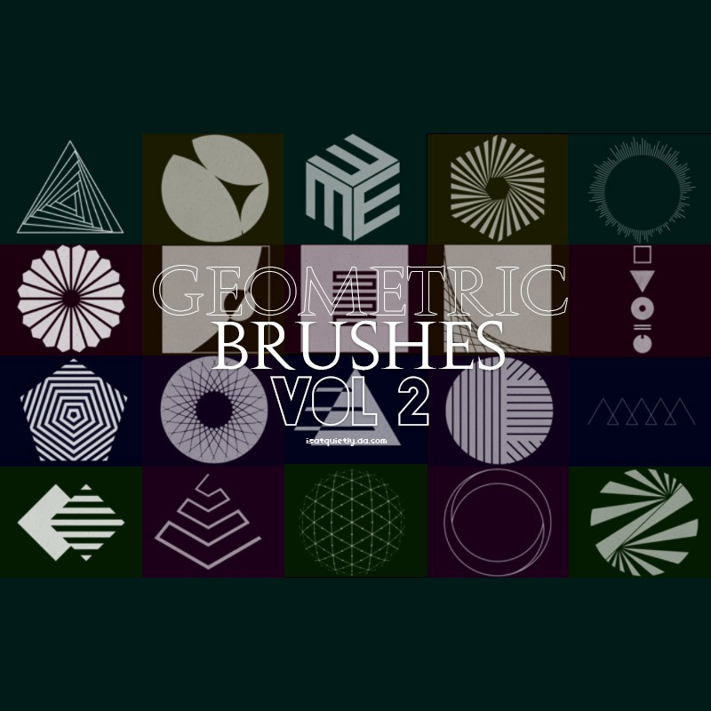Photoshop brushes geometric,shapes