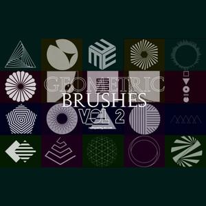 20 Free Geometrick Photoshop Brushes