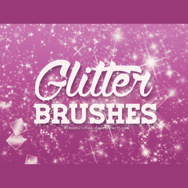 Photoshop brushes glitter