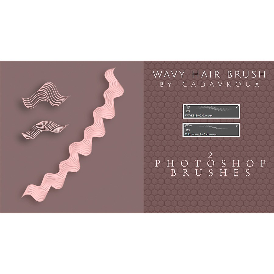Photoshop brushes hair, vector, wavy