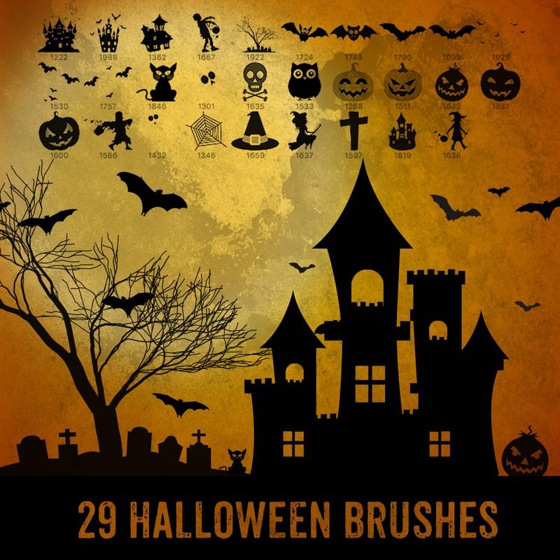 Photoshop brushes Halloween, illustration