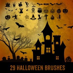 29 Halloween Brushes