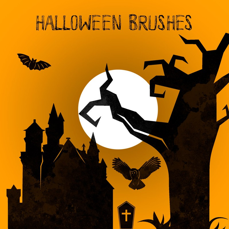 Photoshop brushes Halloween