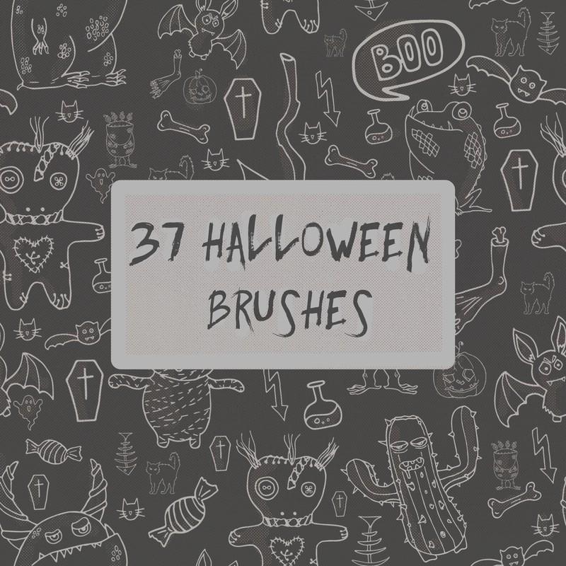 Photoshop brushes Halloween, set