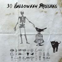 30 Free Halloween Brushes