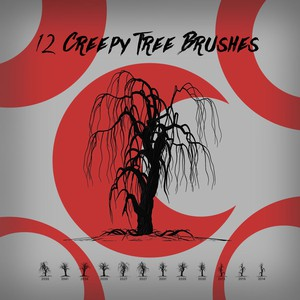 12 Creepy Tree Brushes