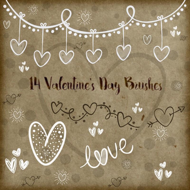 Photoshop brushes heart, love, symbol, valentines