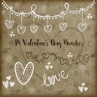 14 Valentines Day Brushes
