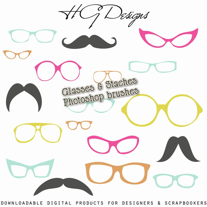 Photoshop brushes glasses