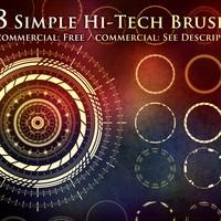 Hi-Tech Sci-Fi Circle Brushes