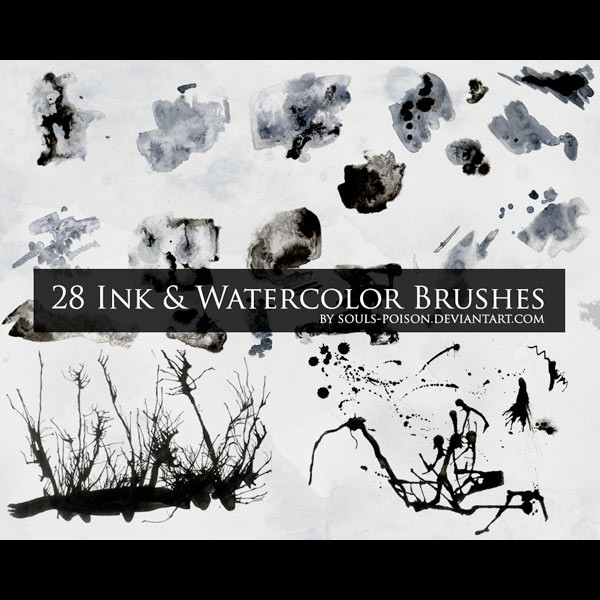 Photoshop brushes watercolor, stroke