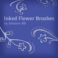 Inked Flower Brushes