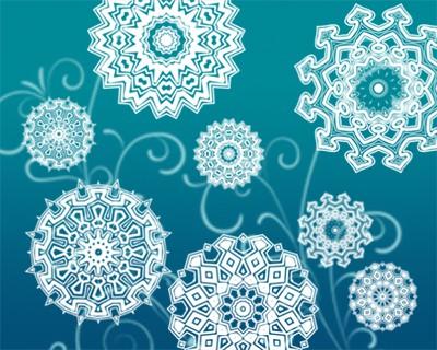 Photoshop brushes kaleidoscope, ornament