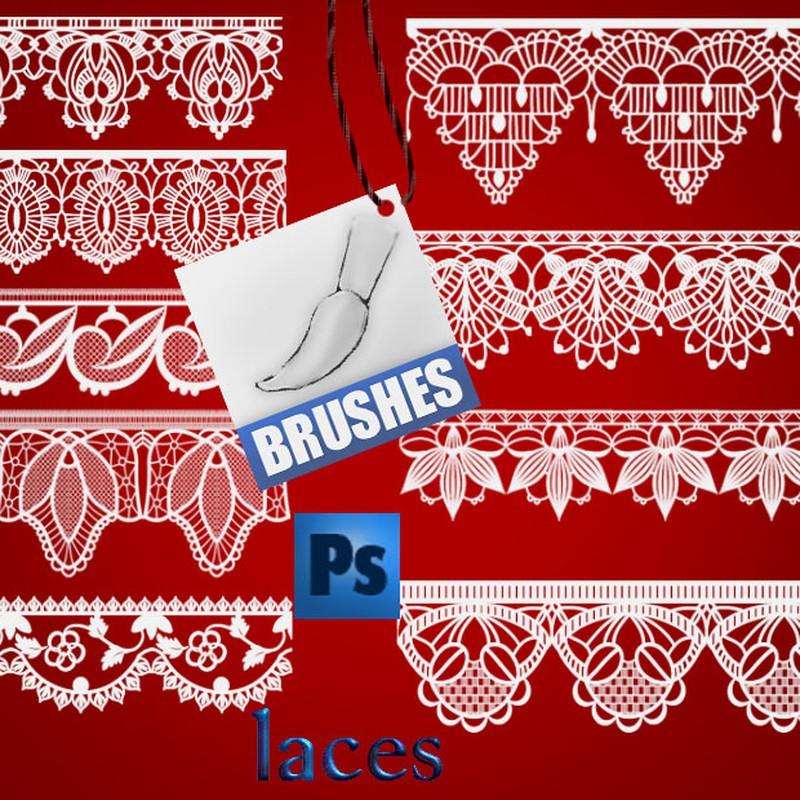 Photoshop brushes lace