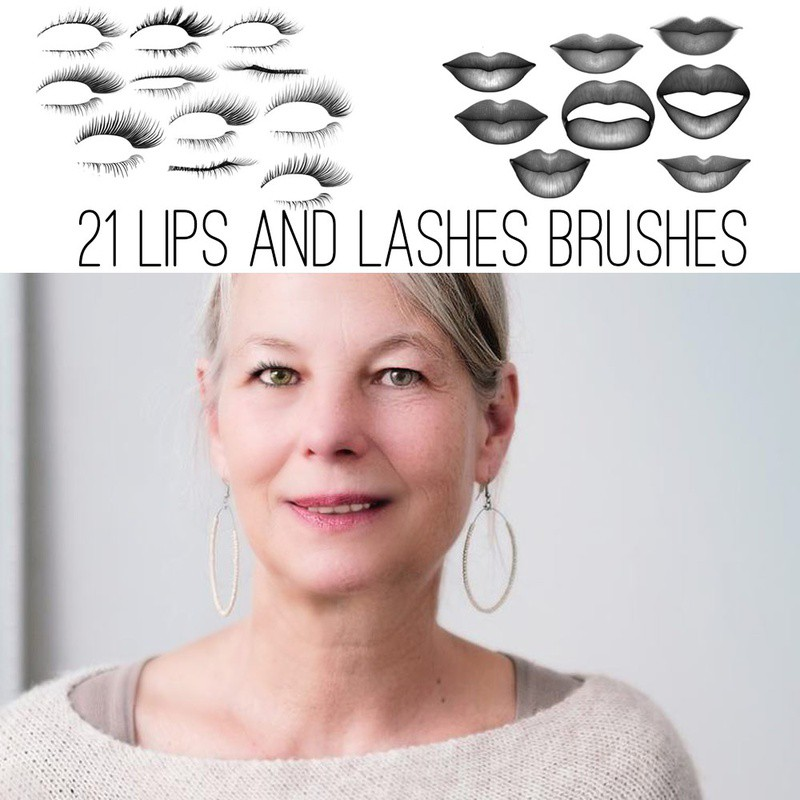 Photoshop brushes lashes, set