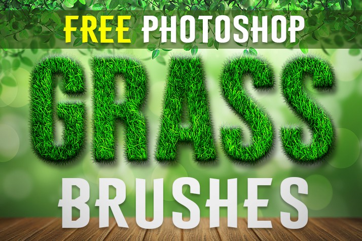 Photoshop brushes lawn, grass