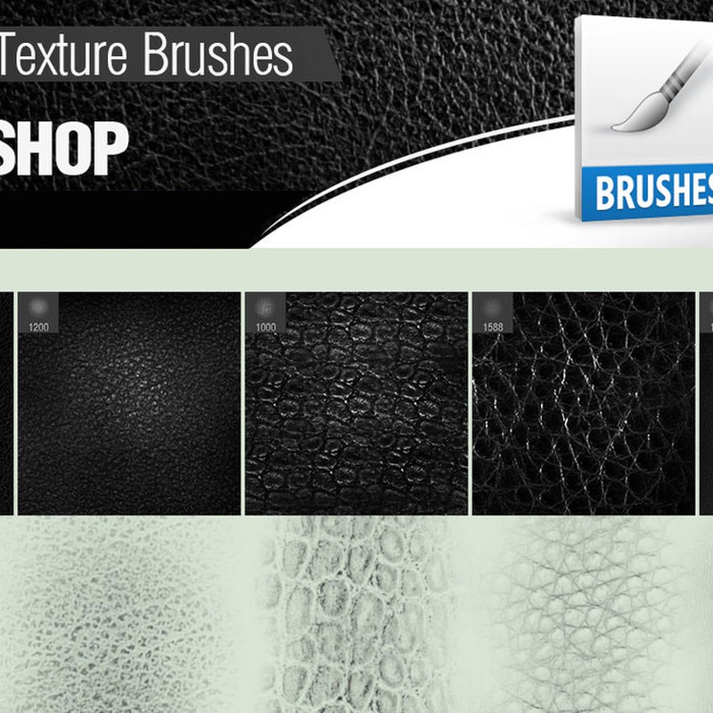 Photoshop brushes leather, texture