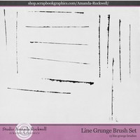 Line Grunge Brush Set