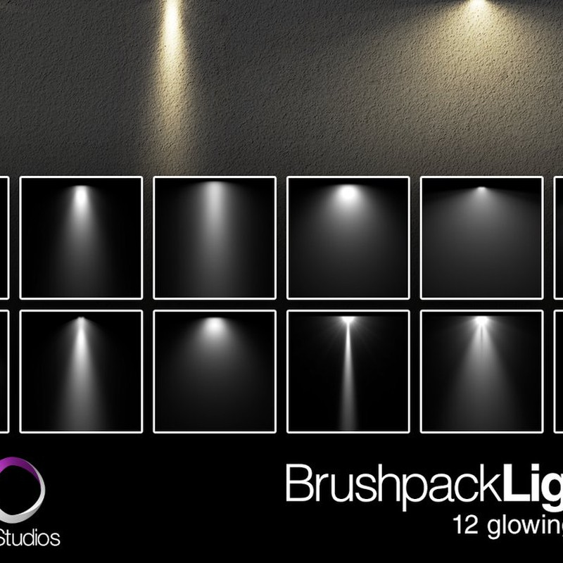 Photoshop brushes light, spot