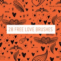 28 Free Love Brushes