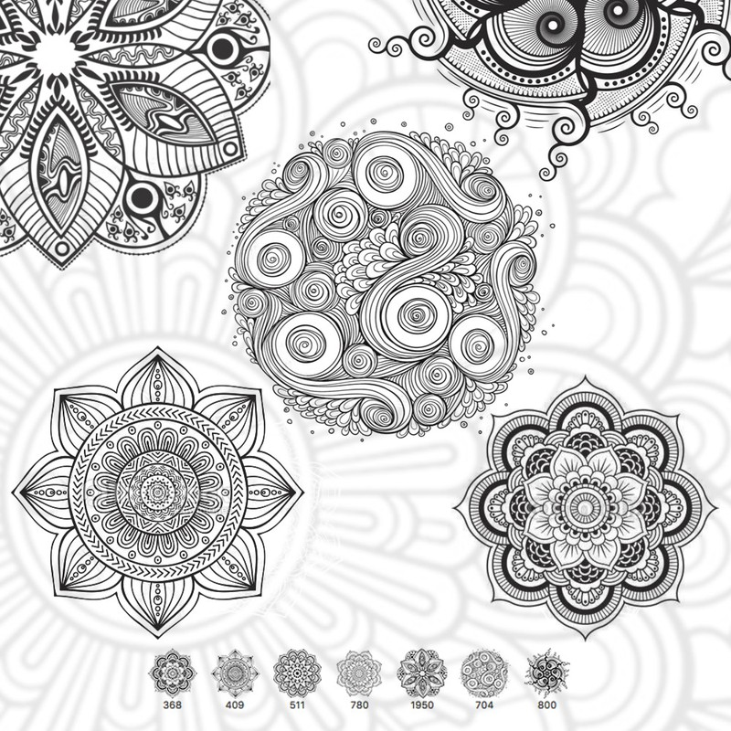 Photoshop brushes mandala, ornament
