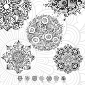 7 Mandala Brushes