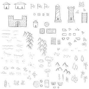 108 Map Making Brushes