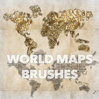 World Maps Brushes