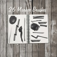 26 Marker Pen Brushes