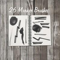 26 Marker Pen Brushes