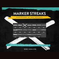 Marker Streaks PS Brushes