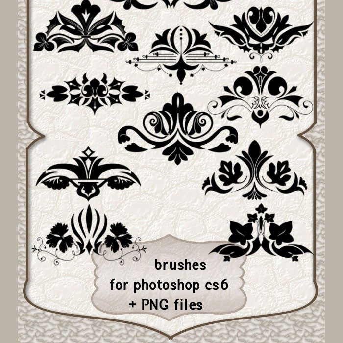 Photoshop brushes ornament elements