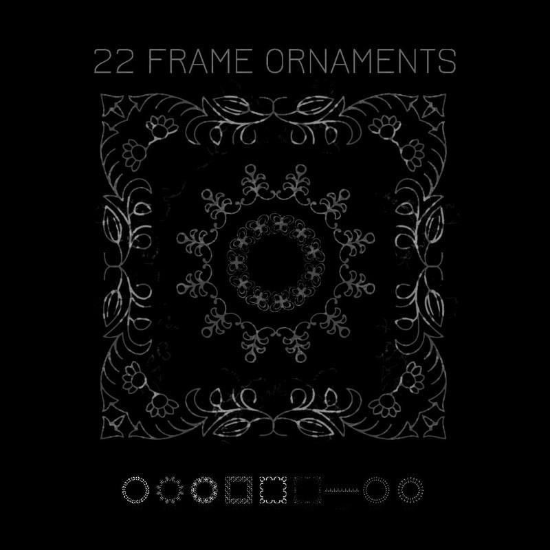 Photoshop brushes ornament,frames