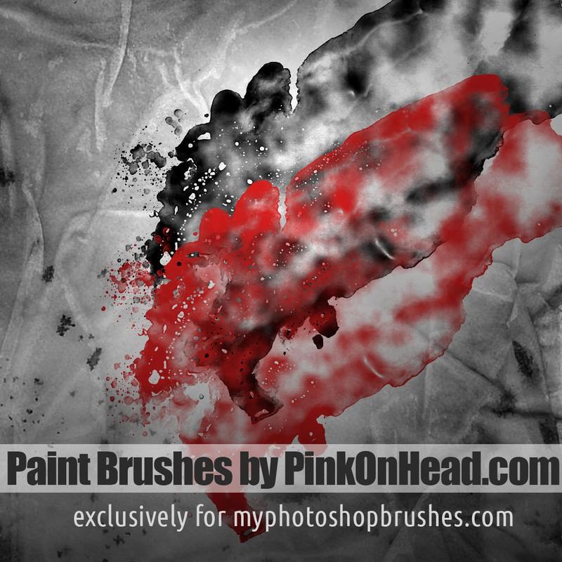 Photoshop brushes stroke,splatter,paint