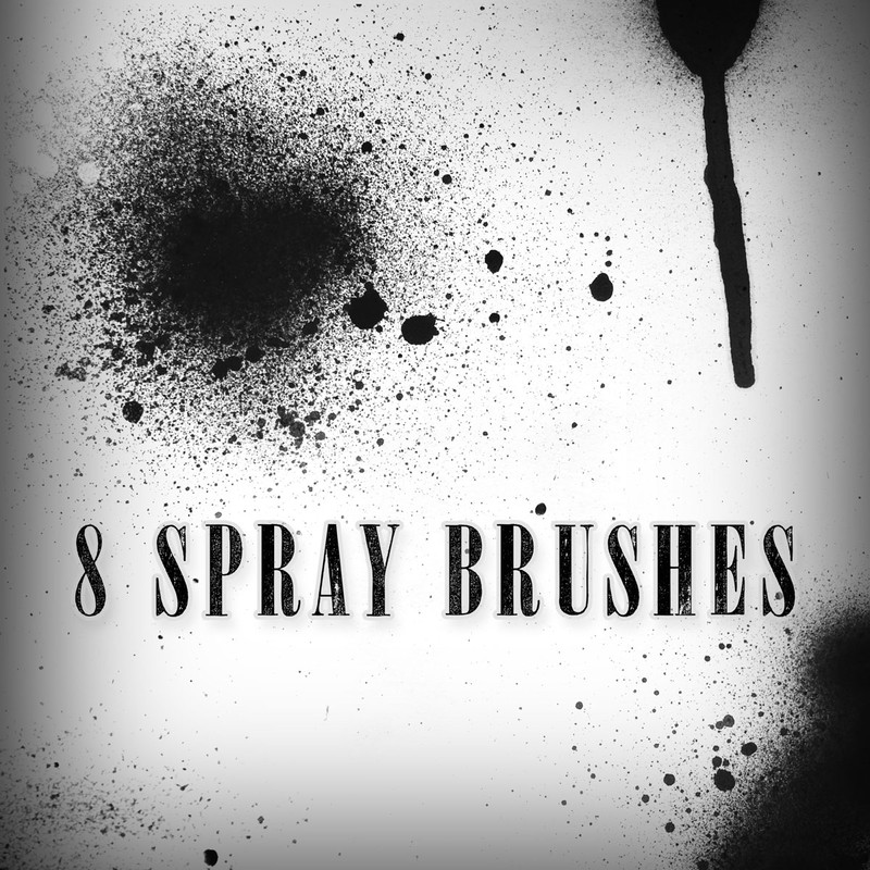 Photoshop brushes paint, splatter, spray