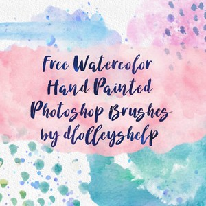 173 Watercolor Hand Painted PS Brushes