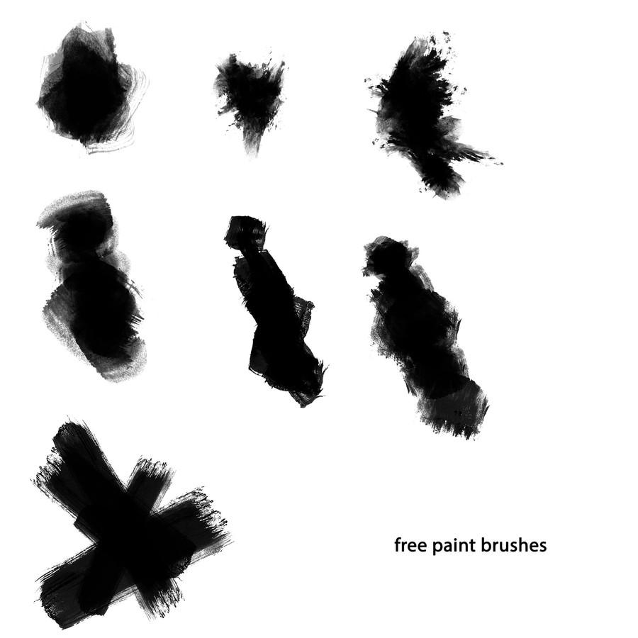 Photoshop brushes paint stroke