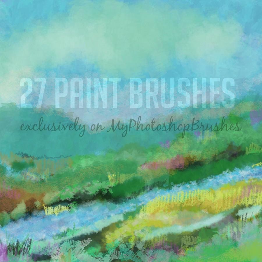 Photoshop brushes paint, stroke