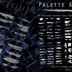 80 Palette Knife PS Brushes
