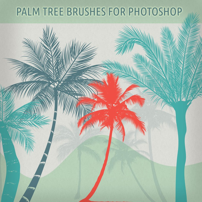 Photoshop brushes palm,  trees