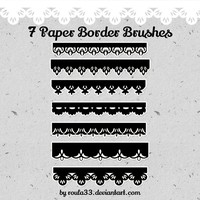 Paper Border Brushes