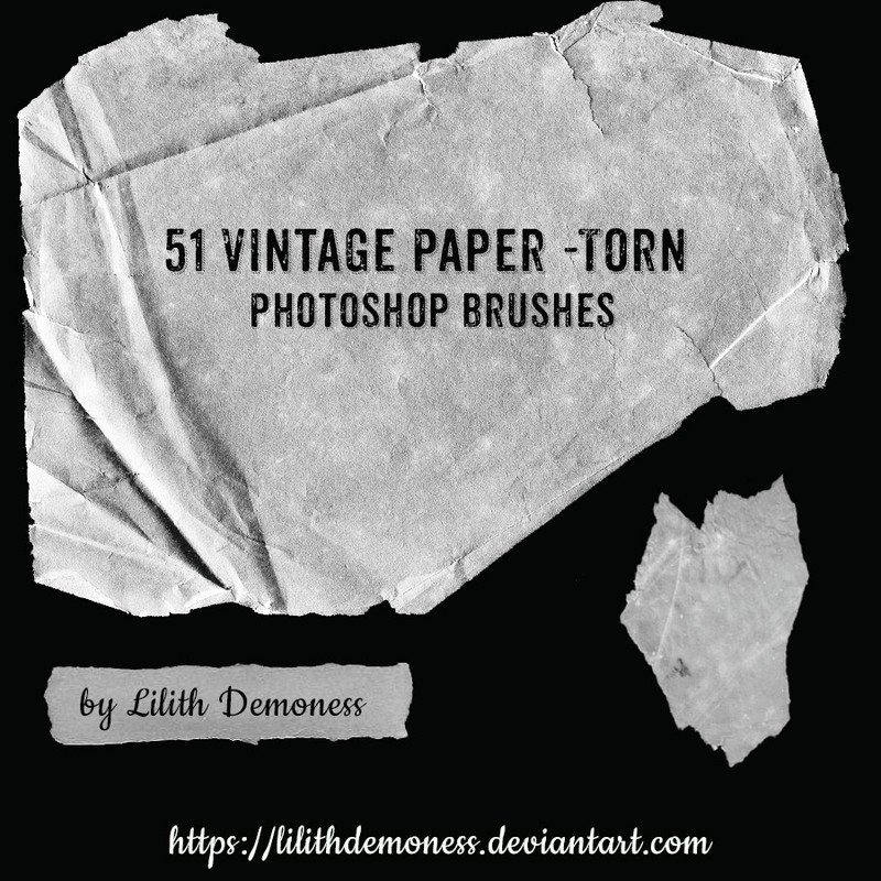 Photoshop brushes paper, torn, vintage