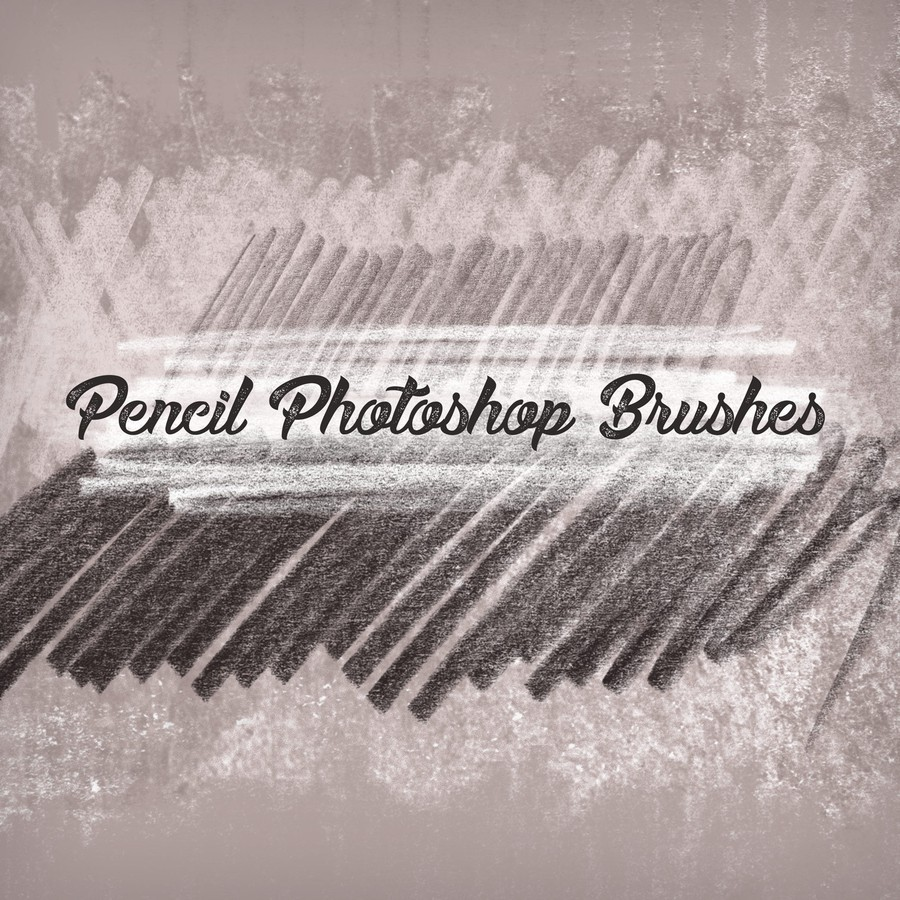 Photoshop brushes pencil, scribbles