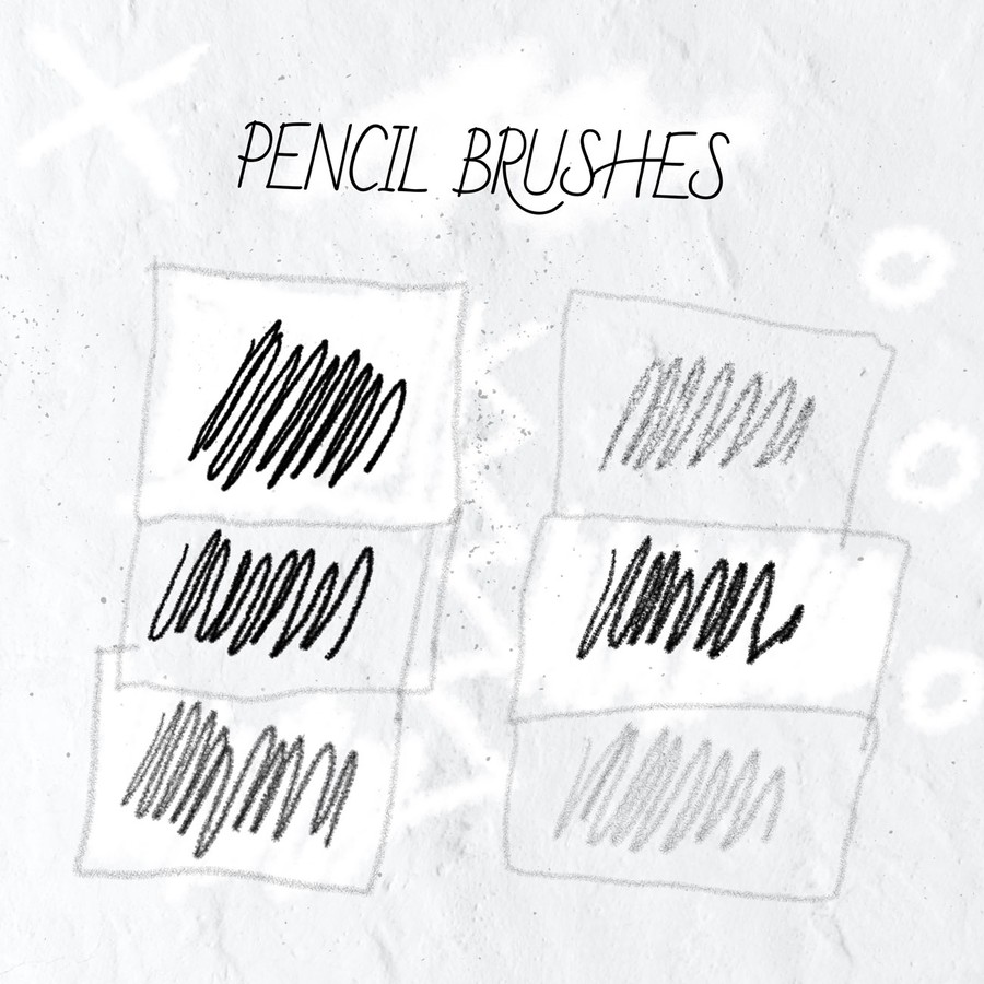 Photoshop brushes pencil, stroke
