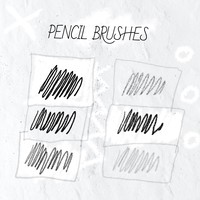 6 Pencil Brushes
