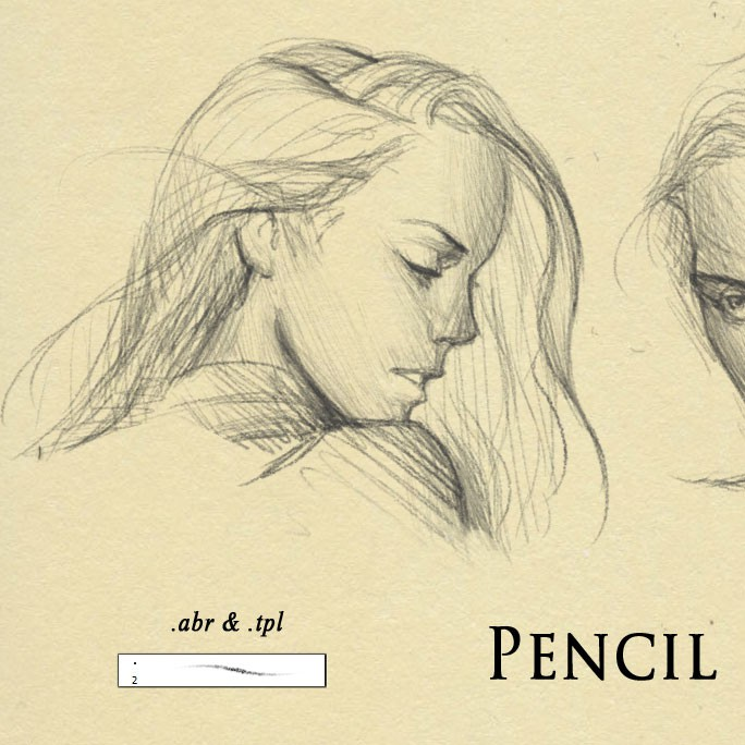 Photoshop brushes pencil drawing, sketch