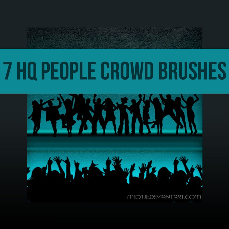 Photoshop brushes crowd, dancing