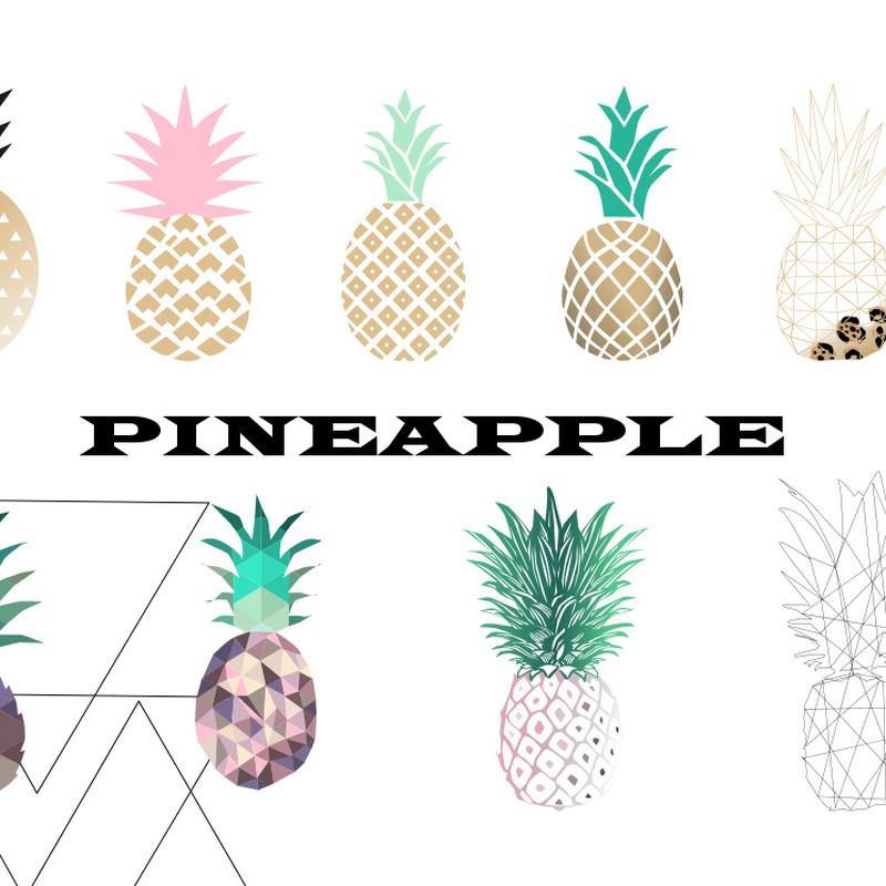 Photoshop brushes pinapple, fruit