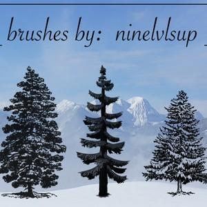 3 Pine Tree PS Brushes