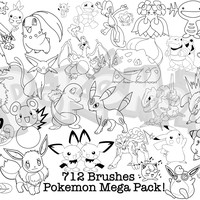 Huge Pack of Pokemon Brushes